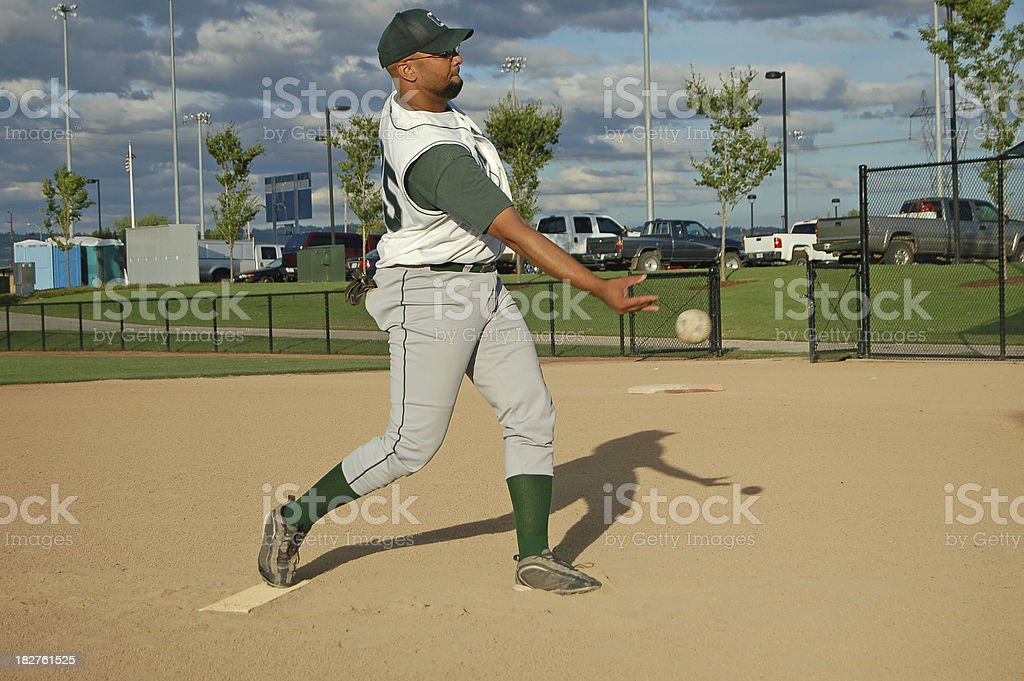 Slow Pitch Softball Release royalty-free stock photo