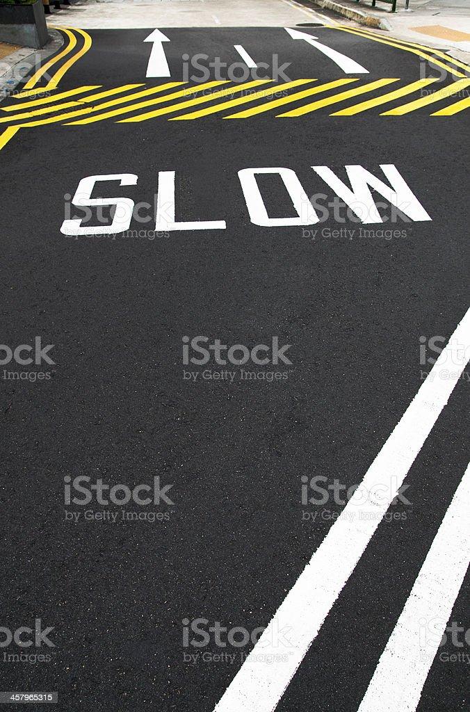 Slow Road royalty-free stock photo