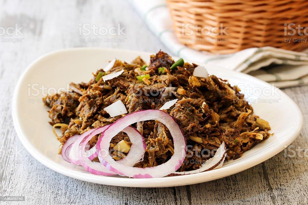 Slow Roasted Beef fry stock photo