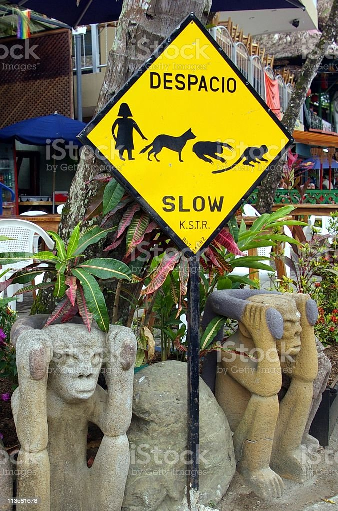 Slow Sign Despacio royalty-free stock photo