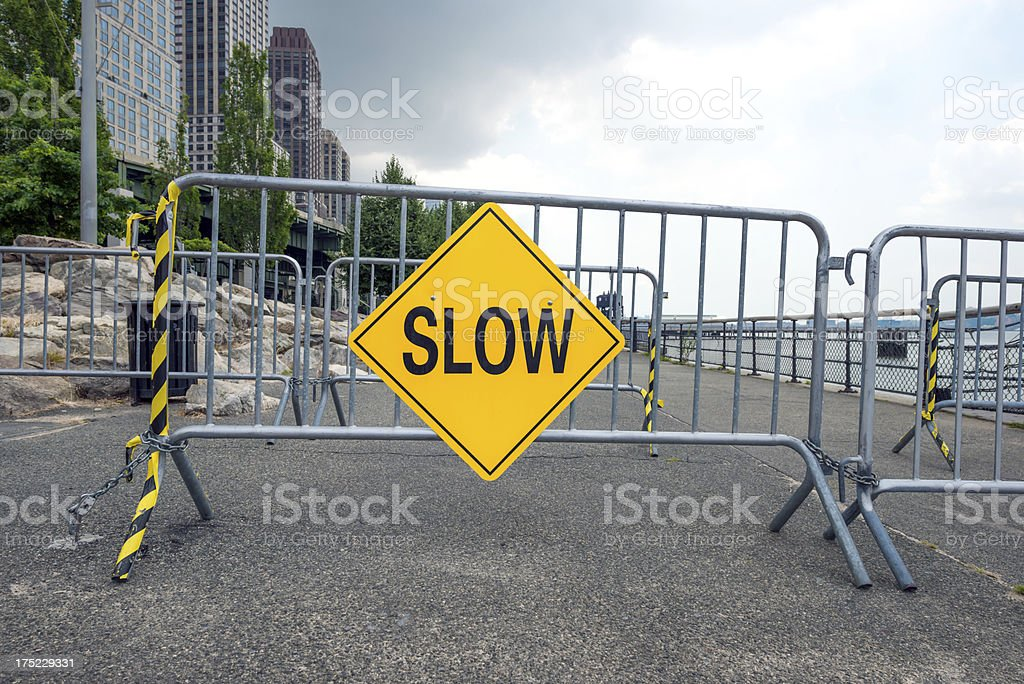 Slow sign royalty-free stock photo