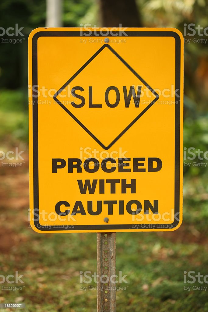 Slow sign stock photo