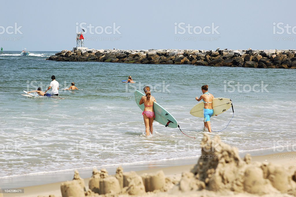 Slow surf day stock photo