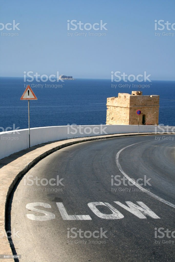 Slow turn stock photo