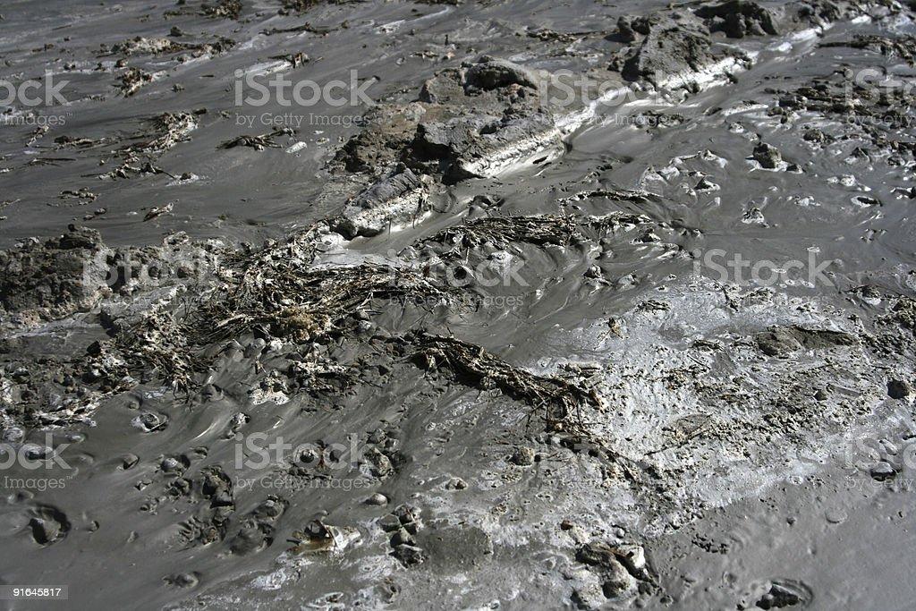 Sludge Oil slick Toxic waste stock photo