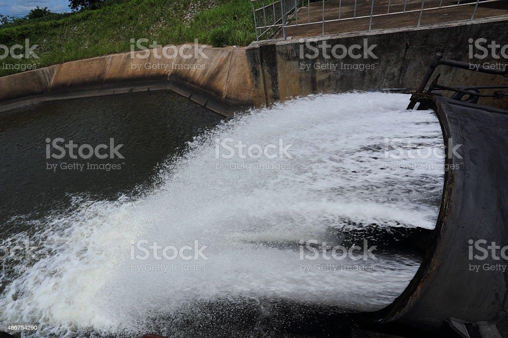 sluice dam stock photo