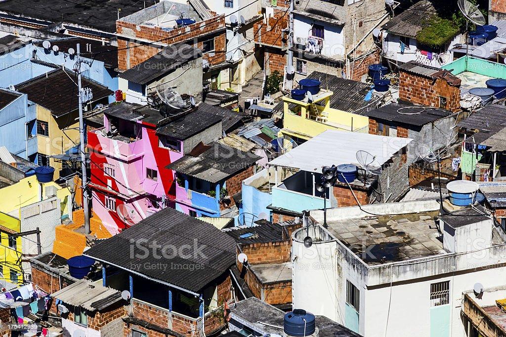 Slum Favela Santa Marta royalty-free stock photo