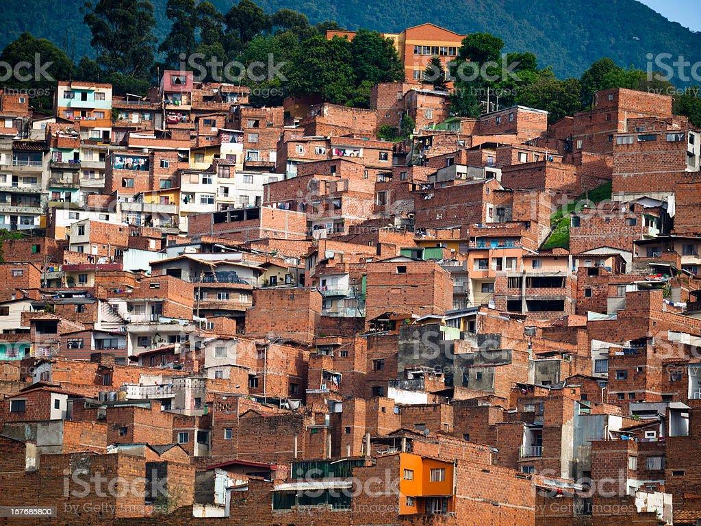 Slum in Medellin, Colombia stock photo