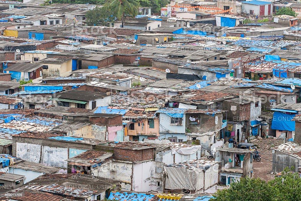 Slum in Mumbai, India stock photo
