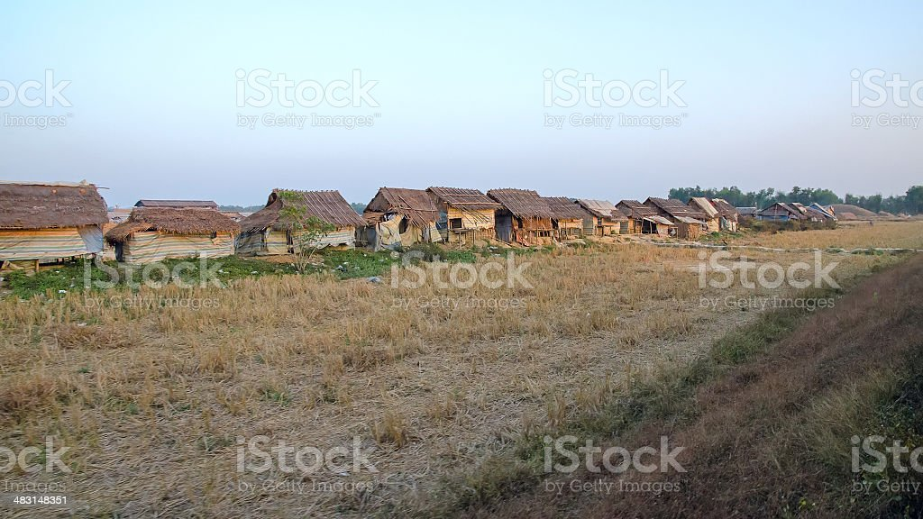 Slum Myanmar stock photo