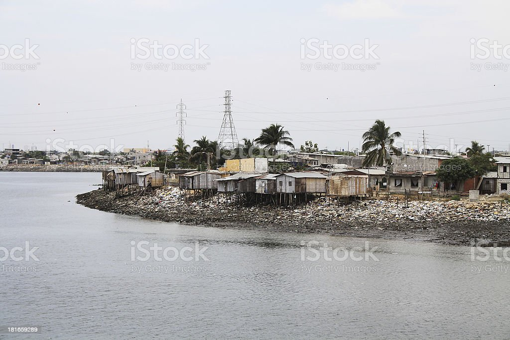Slum - Panama stock photo