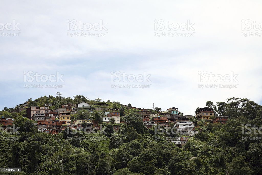 Favela royalty-free stock photo