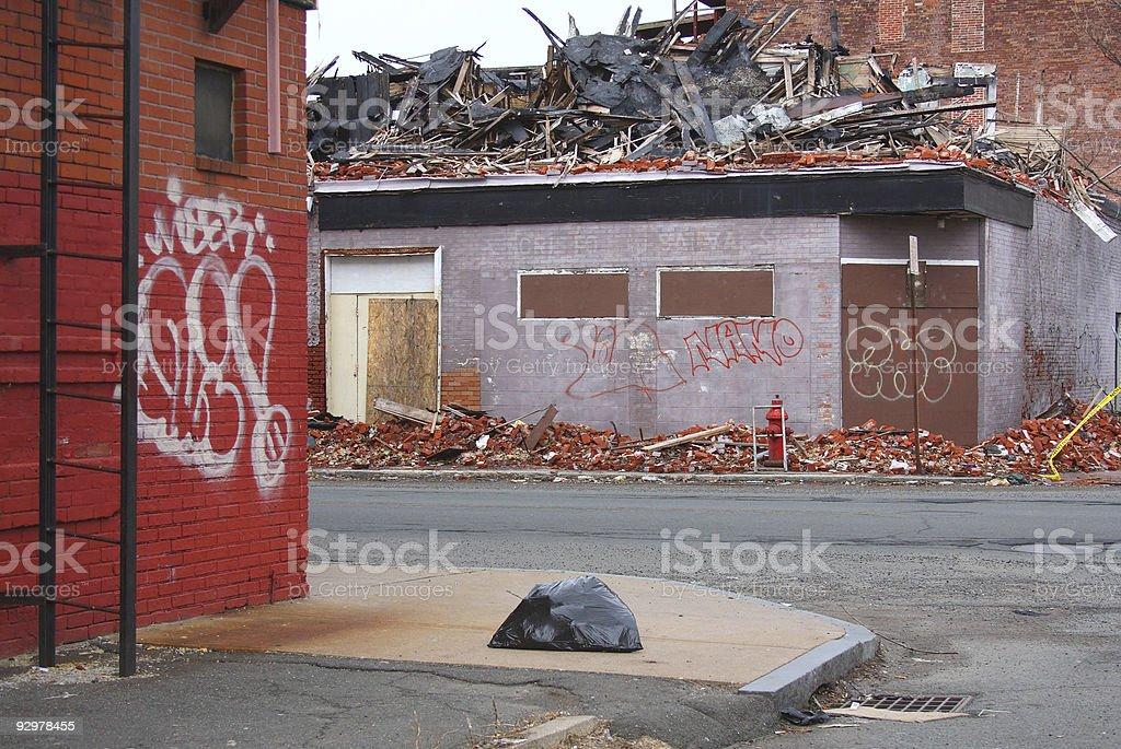 Slum royalty-free stock photo