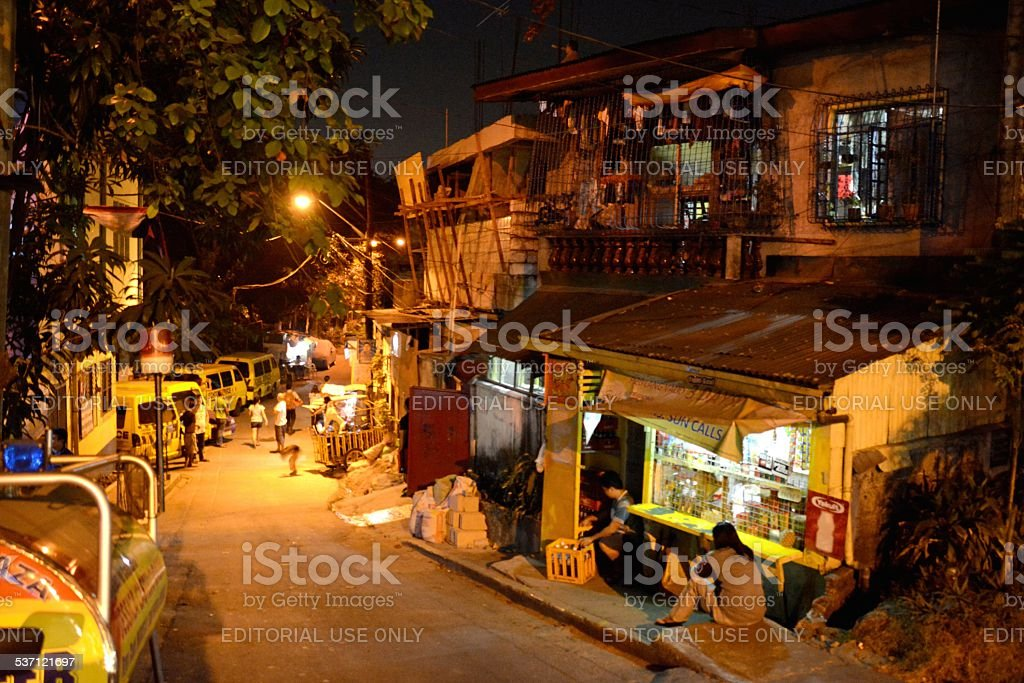 Slum, Quezon City stock photo