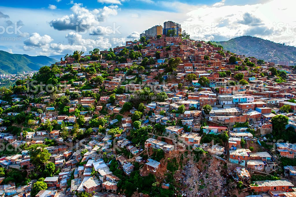 Slum Zone In Caracas, Venezuela stock photo