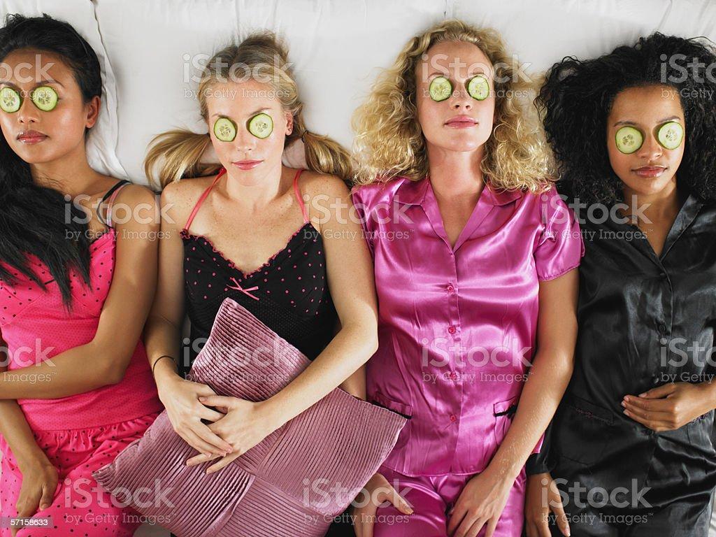 Slumber party stock photo