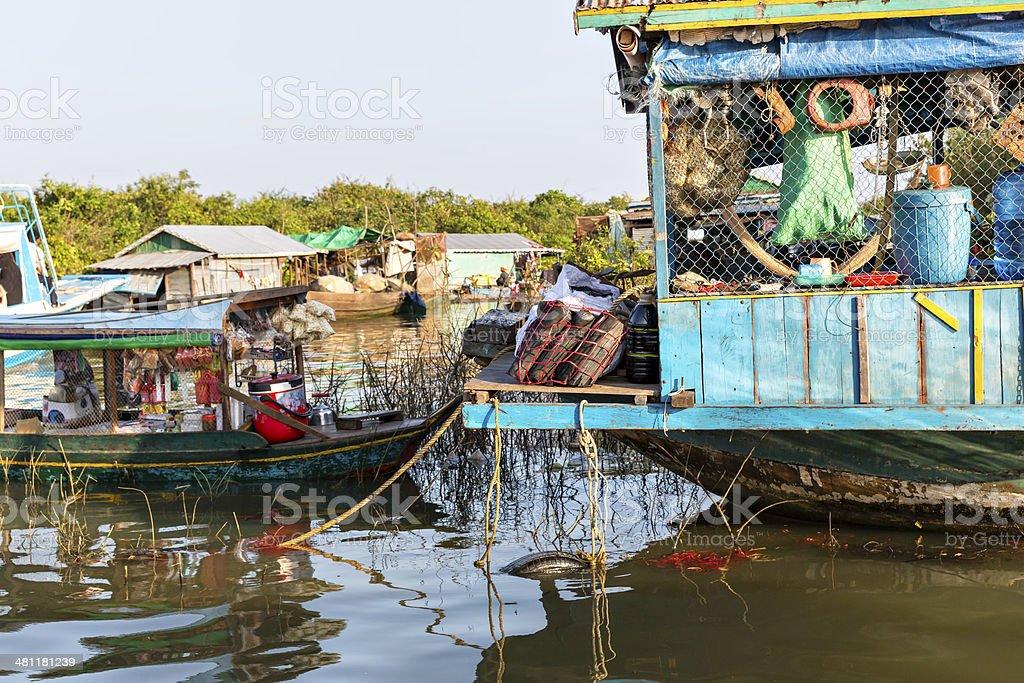 Slums in Cambodia stock photo