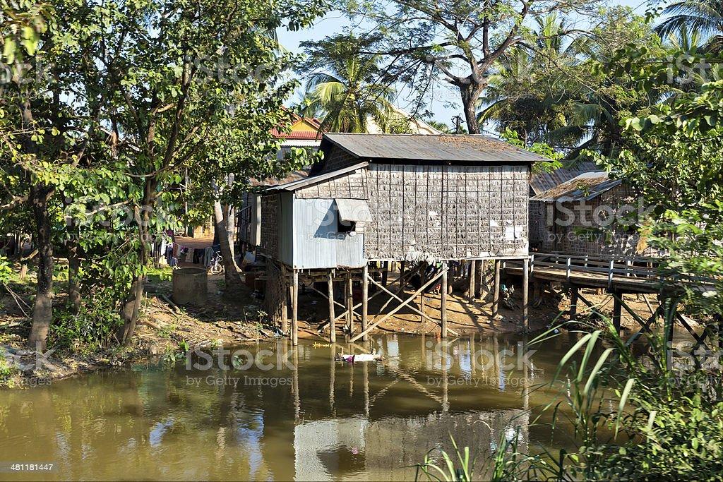 Slums in Cambodia royalty-free stock photo