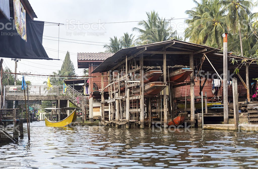 Slums in Thailand royalty-free stock photo