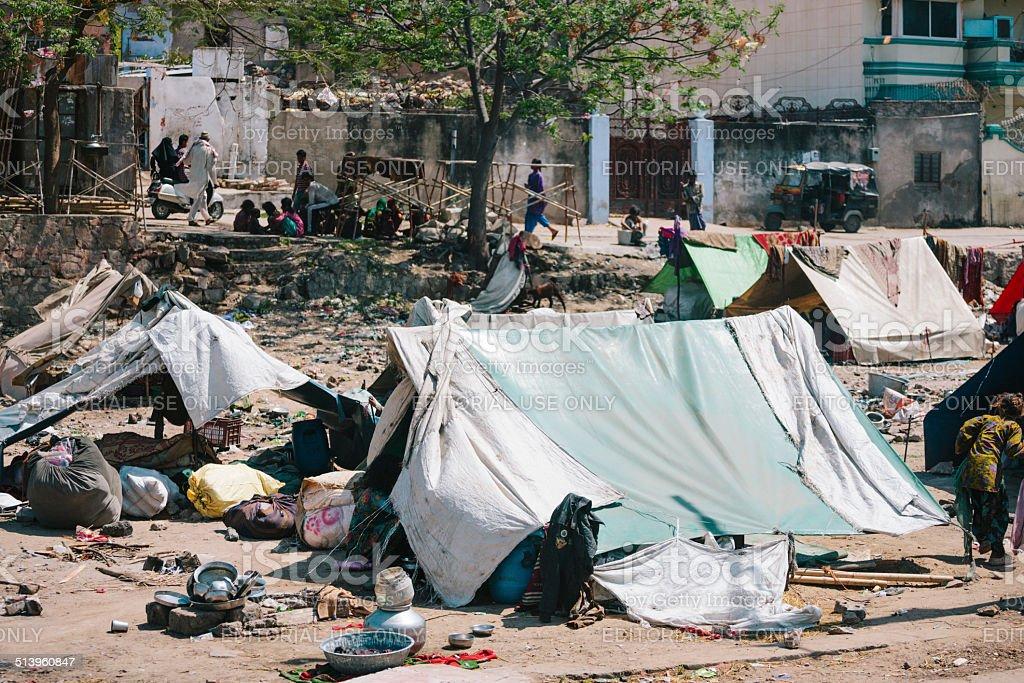 Slums, Jodhpur stock photo