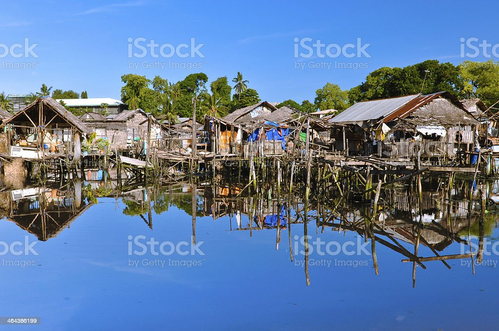Slums on Water royalty-free stock photo