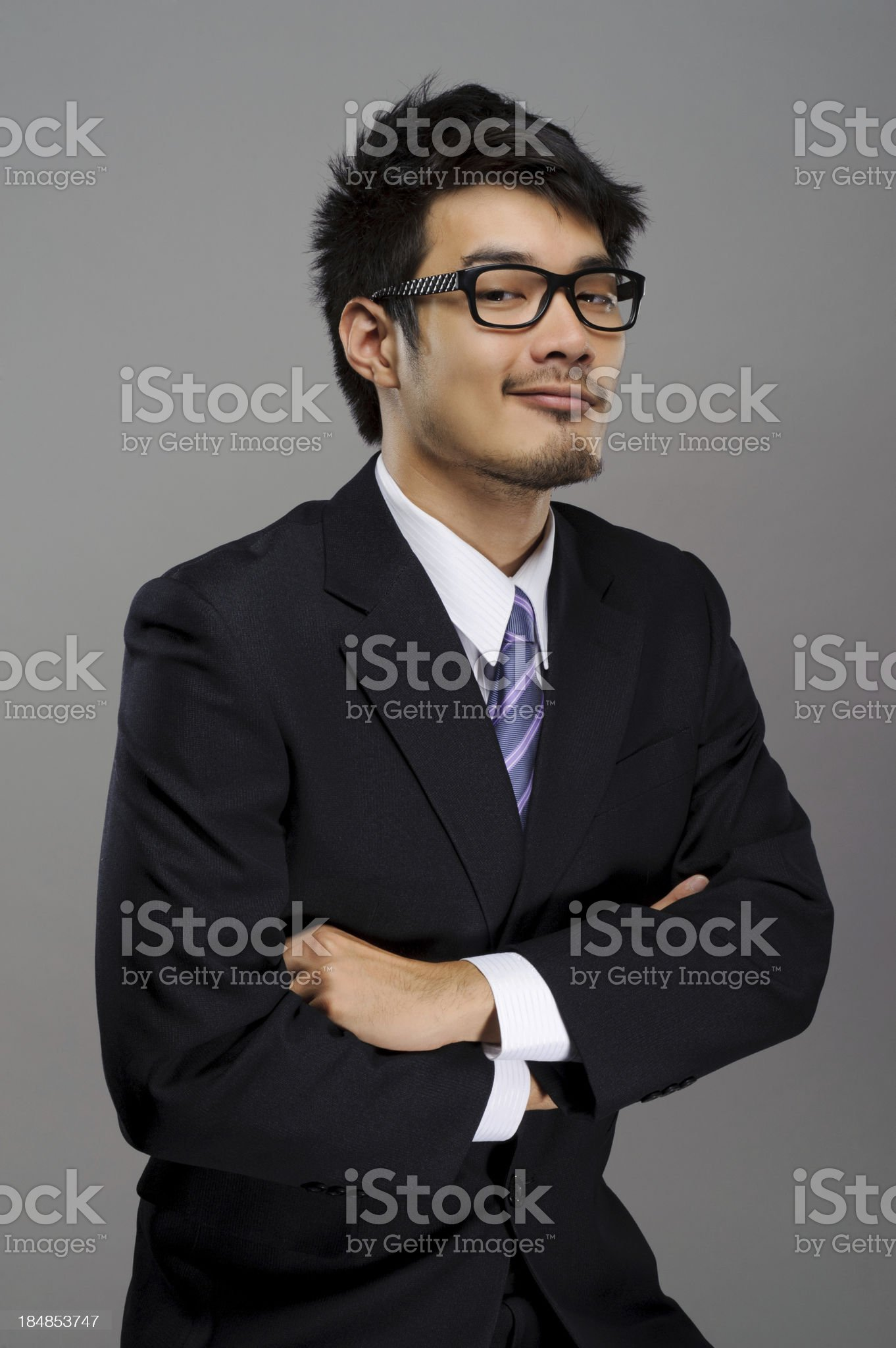 Sly business man royalty-free stock photo