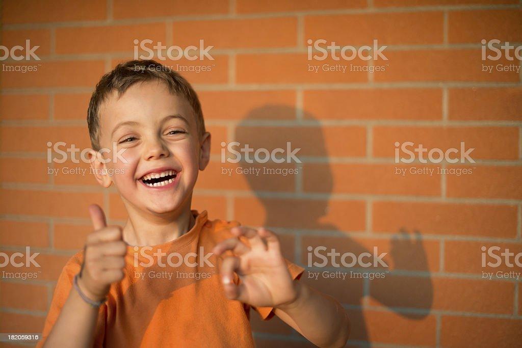 OK Smailing kid stock photo