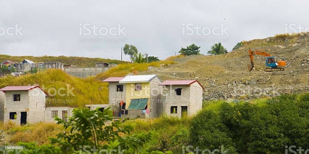Smal housing project in the Philippines stock photo