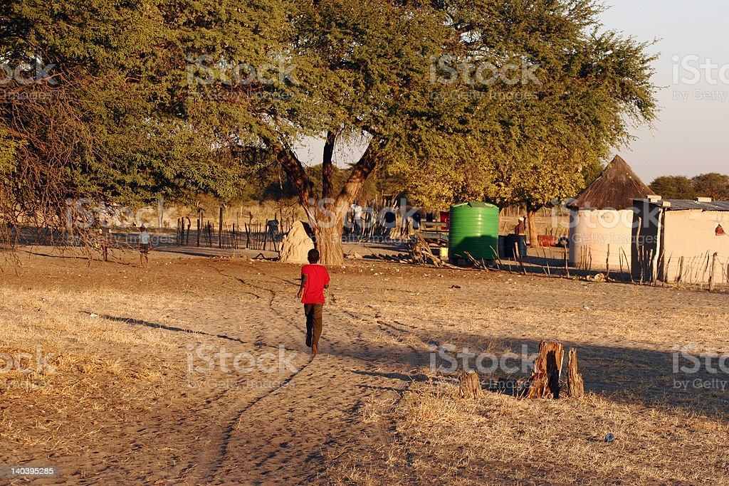 Small African Village royalty-free stock photo