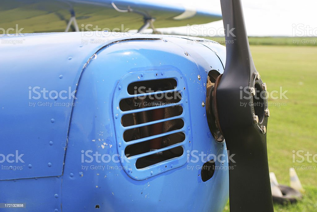 Small Airplane Nose royalty-free stock photo