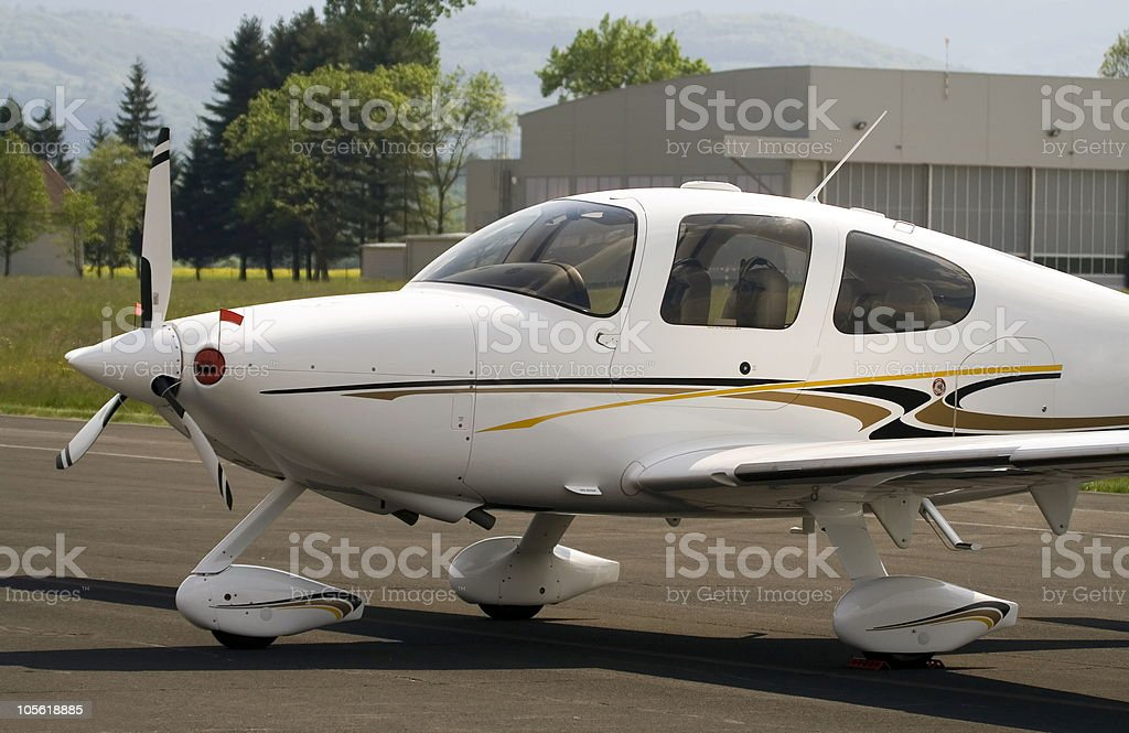 Small airplane stock photo