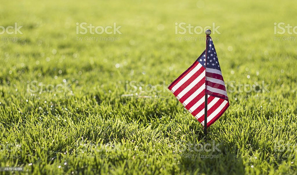 Small American Flag stock photo