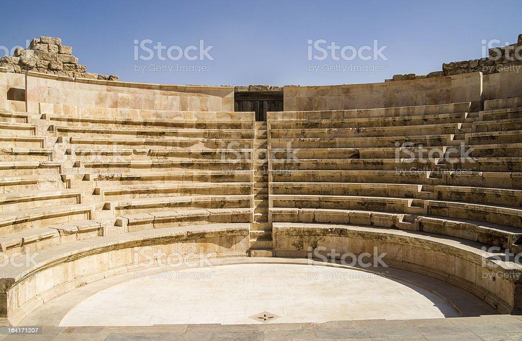 Small amphitheatre in Amman stock photo
