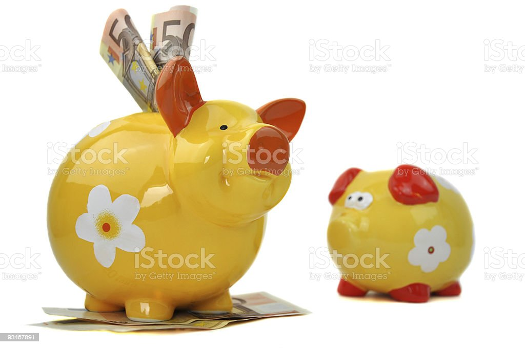 Small and Big Piggy Bank royalty-free stock photo