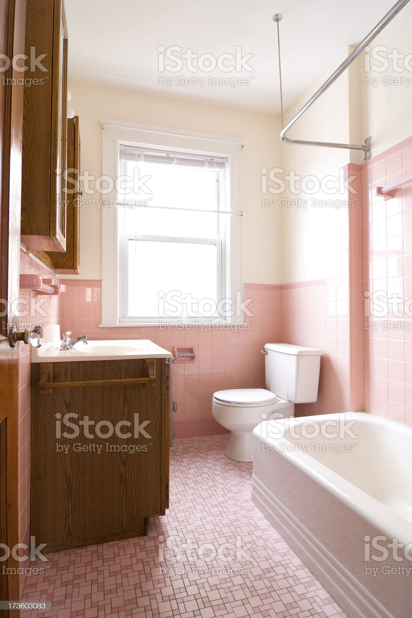 Small and old bathroom royalty-free stock photo