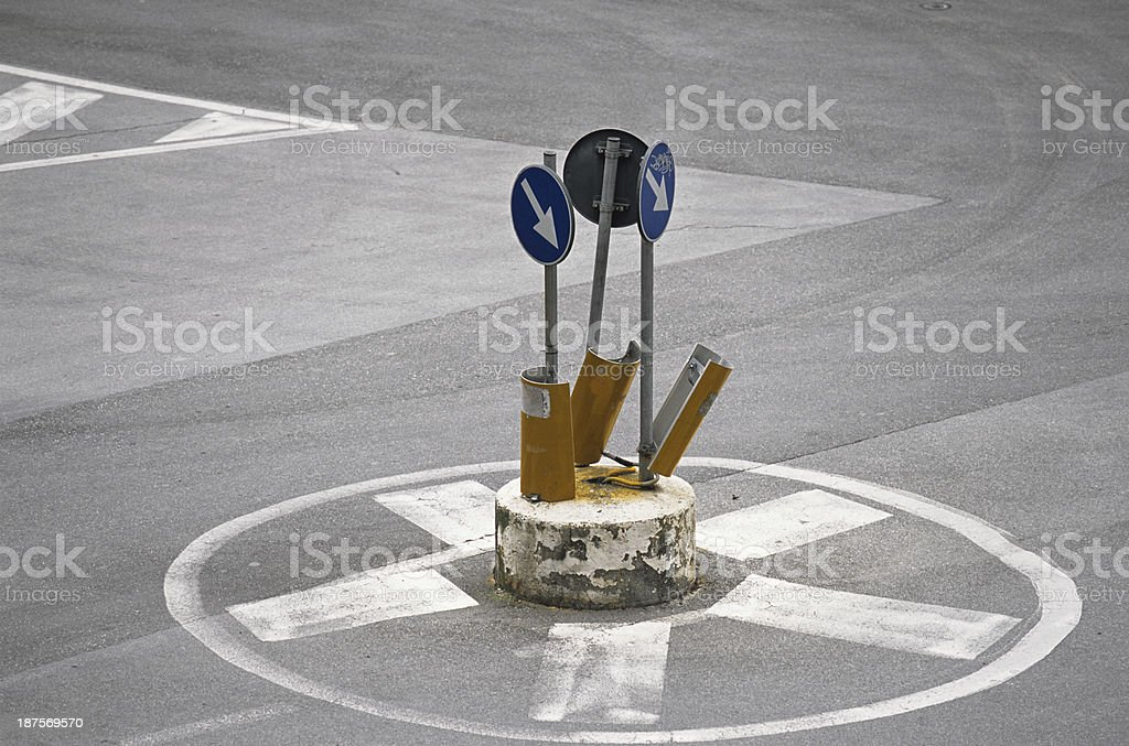 Small and unusual roundabout stock photo