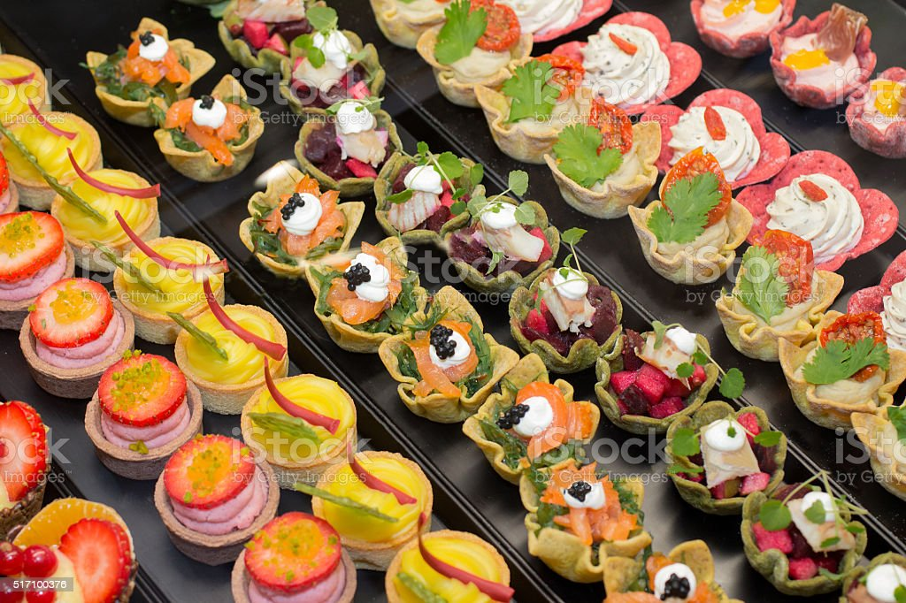 Small appetizers stock photo