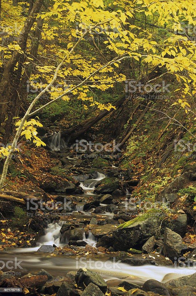 Small Autumn Waterfall royalty-free stock photo