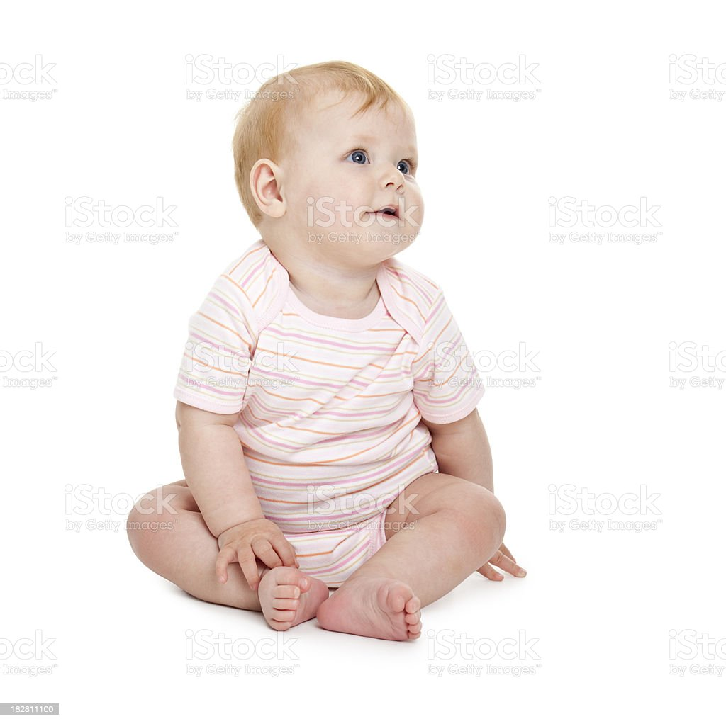 small baby girl royalty-free stock photo