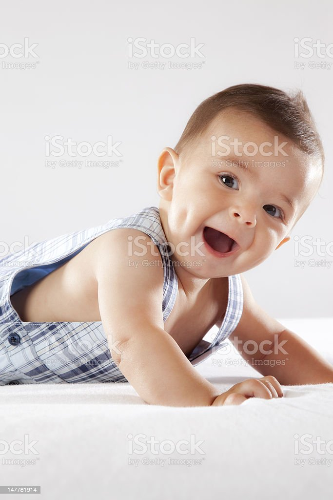 Small Baby smiling stock photo