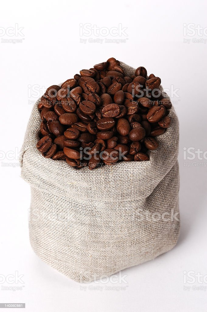 small bag of coffee #3 royalty-free stock photo