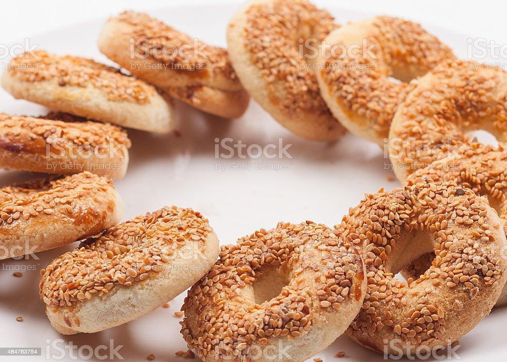 Small bagel stock photo