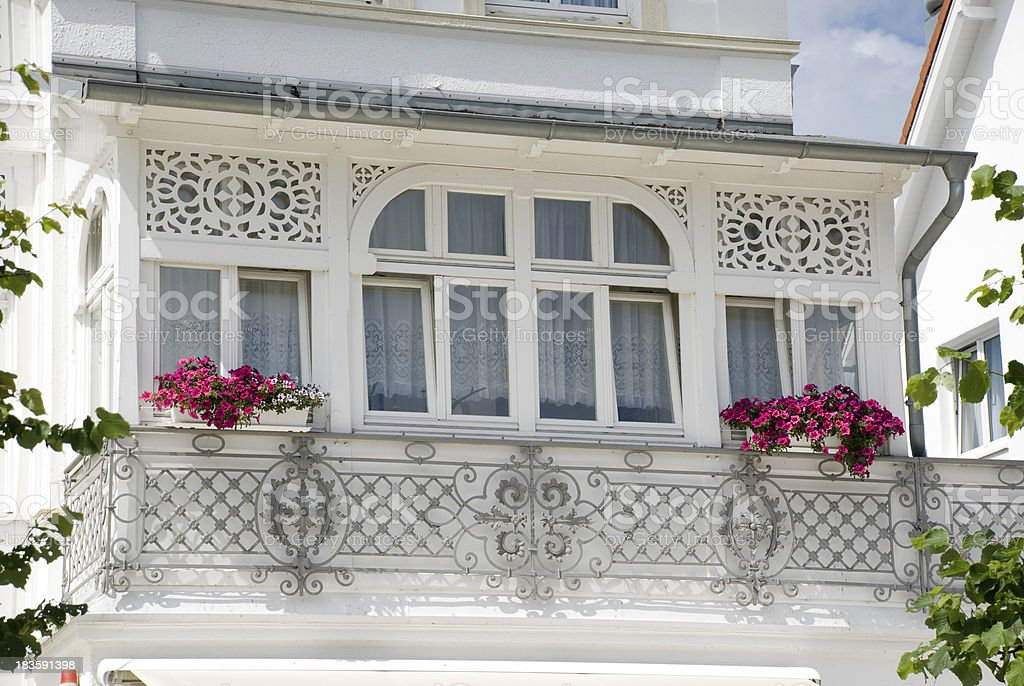 small balcony in Art Nouveau royalty-free stock photo