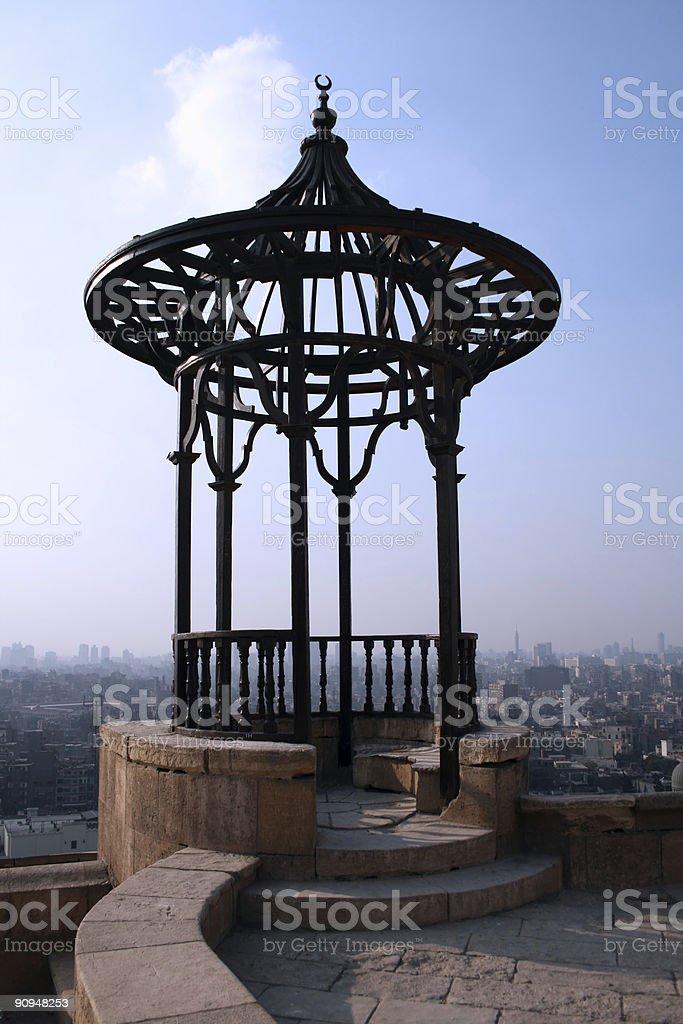 Small Balcony over Cairo royalty-free stock photo