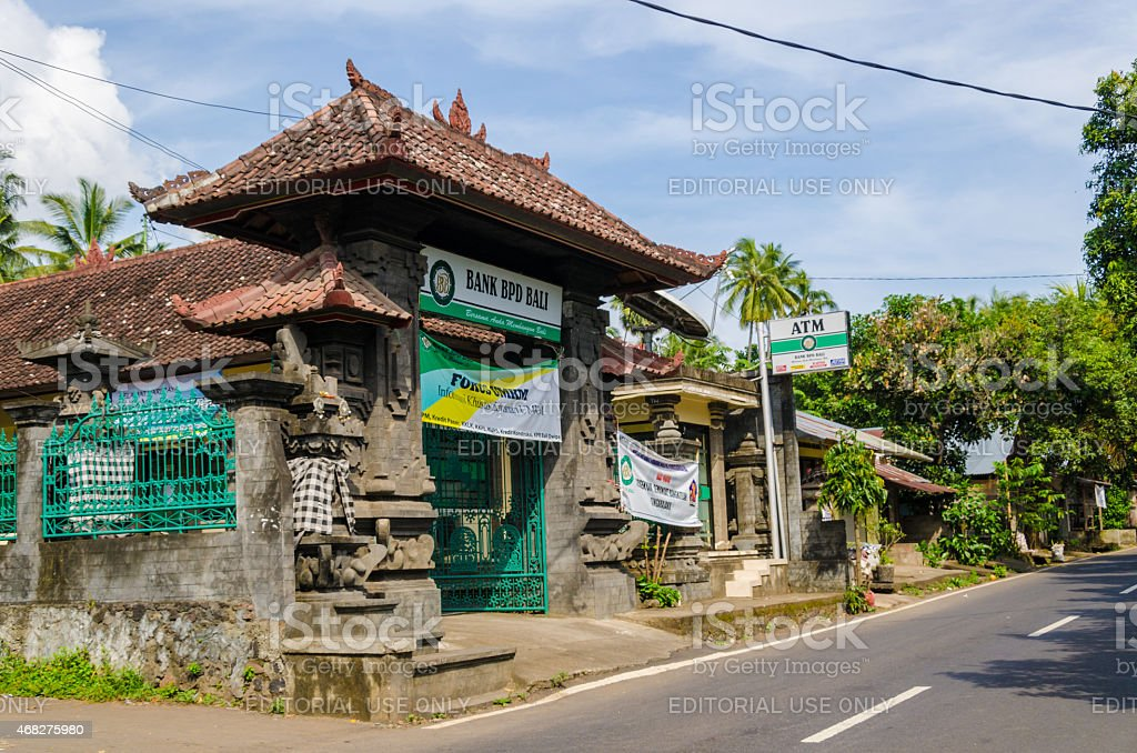 small Bank BPD Bali branch in Indonesia stock photo