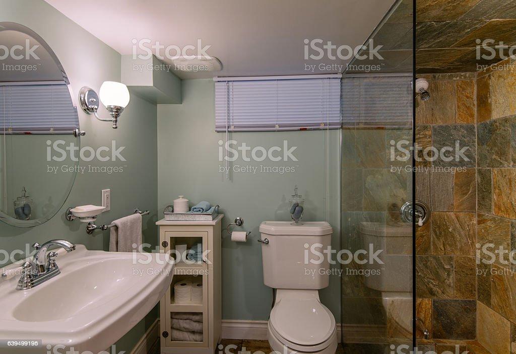 Small bathroom interior stock photo