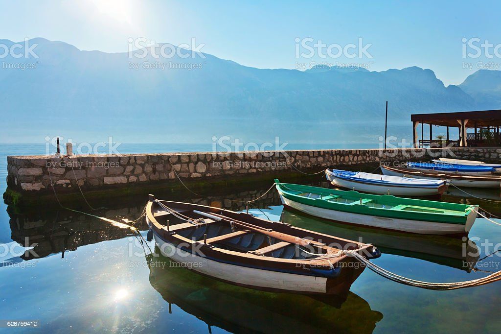 small bay with boats stock photo