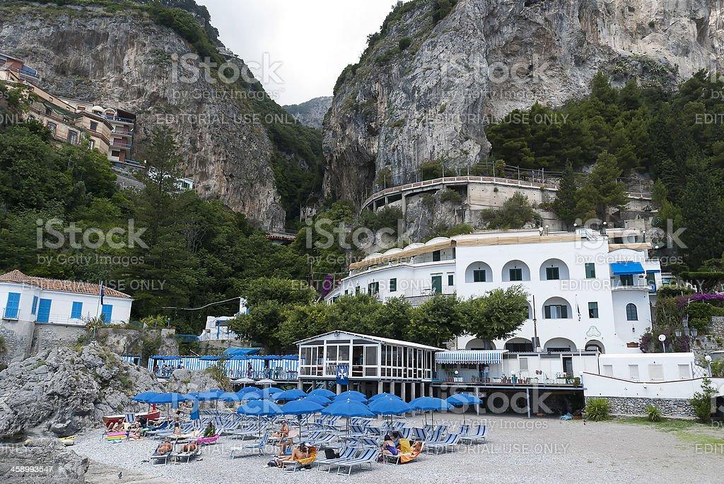 small beach,  Amalfi in Italy royalty-free stock photo