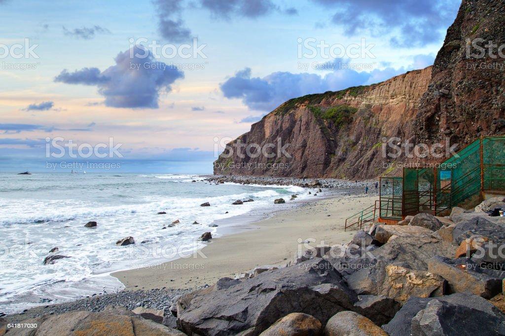 Small beach in Dana Point stock photo