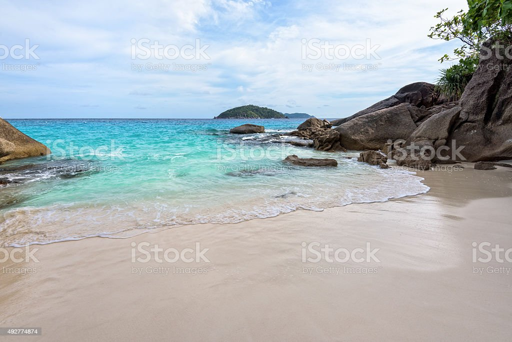 Small beach in Thailand stock photo